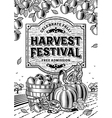 Harvest Festival Poster Black And White vector image vector image