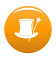 hat with a wand icon orange vector image vector image