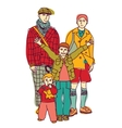 Homosexual gay lgbt family couple and kids vector image vector image