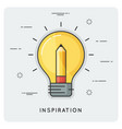 idea and inspiration thin line concept vector image vector image