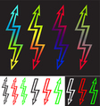 Iridescent sign double-ended arrow lightning vector image vector image