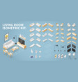 isometric living room kit vector image vector image