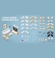 Isometric living room kit
