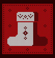 knitted boots handmade vector image