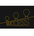 Light bulb ideas to success Idea concept vector image vector image