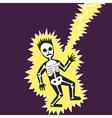 Lightning hit the man cartoon vector image