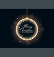 luxury christmas balls and sparkles decoration vector image vector image