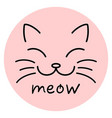 meow cat face vector image vector image