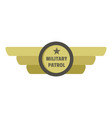 military patrol icon logo flat style vector image vector image