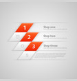 modern business steps origami style options banner vector image vector image