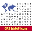 Navigation map icons vector image vector image