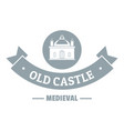 old castle logo simple gray style vector image vector image