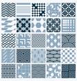ornamental black and white seamless backdrops set vector image vector image