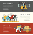 Popular Horses Breeds Horizontal Banners Set vector image