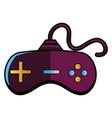 purple joystick on white background vector image