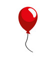 red balloon decoration on white background vector image vector image