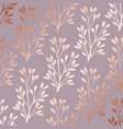 rose gold elegant decorative floral pattern for vector image vector image