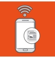 samrtphone wifi connected vector image vector image