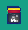 Sd card icon vector image vector image