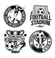 set football emblems labels badges logos vector image