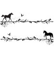 set of dividers with horses vector image vector image