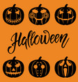 set of halloween objects vector image vector image