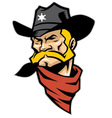 sheriff head mascot vector image vector image