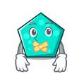 silent pentagon mascot cartoon style vector image