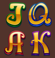 Slot symbols vector image vector image