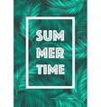 Summer Time poster Text leaves background vector image vector image