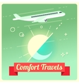 travel concept with passenger airplane vector image vector image