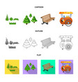 urban and street icon set vector image vector image
