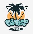 venice beach los angeles california palm tree vector image vector image