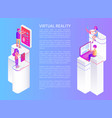 virtual reality text poster vector image vector image