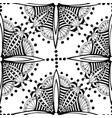 zentangle seamless pattern black and white vector image vector image
