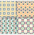 set of 4 seamless pattern simple geometric vector image