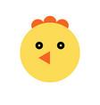 chicken cartoon animal head vector image