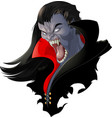 evil vampire picture vector image