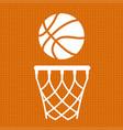 flat basketball background vector image