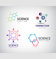 science logos chemistry icons biology vector image