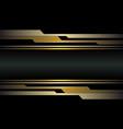 abstract gold circuit cyber on dark grey metallic vector image vector image