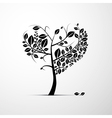 Abstract Heart Shaped Tree on Grey Background vector image