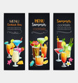 alcoholic cocklails banners vector image vector image