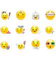 Anime emoticons that play vector image vector image