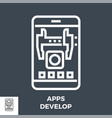 apps develop thin line icon vector image