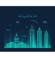 Atlanta skyline trendy linear vector image vector image