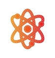 Atom sign Orange applique isolated vector image vector image
