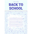 back to school doodle label hand drawn on white vector image vector image