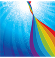 background with rainbow vector image vector image