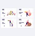balanced keto diet eating website landing page set
